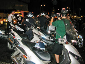 Mass Ticketing during August 2008 Critical Mass by Adrian Kinloch