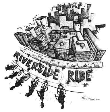 Riverside Ride Illustration