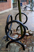 Bike Rack/Tree Guard: Adonis at Peck Slip. Photo by Jym Dyer.