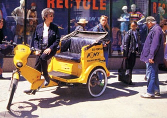 A pedicab on 1997 Earth Day - photo by Carter Craft