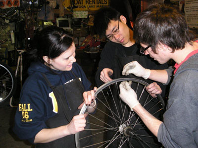 Time's Up! Bike Repair Workshop - Photo by Philipp Rassmann